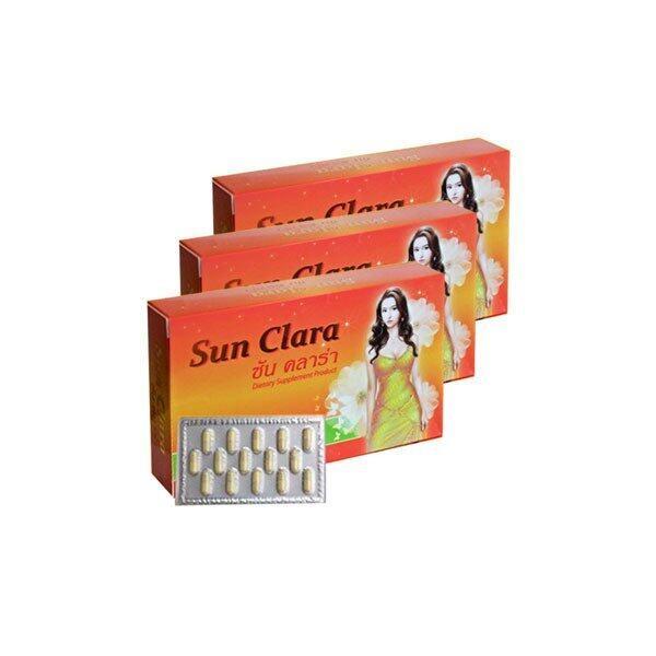 ขายดี Sun Clara ซันคลาร่า กล่องส้ม สูตรดั้งเดิม 3 กล่อง ข้อมูล