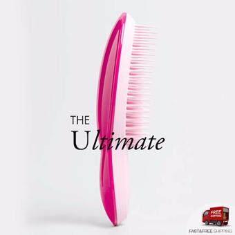 Tangle Teezer The Ultimate The Profressional Finishing Hairbrush For Smoothing and Shine แปรงหวีผมเรียบตรง หวีผมฟูได้ตรงเรียบไว ช่วยให้ผมไม่พันกัน ลดไฟฟ้าสถิต จับง่ายถนัดมือและยังช่วยนวดหนังศรีษะ (สีชมพู/Pink) BOX4699
