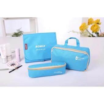 tesia ROMIX RH10 3in1 กระเป๋าเครื่องสำอาง กระเป๋าจัดระเบียบกระเป๋าแขวน น้ำหนักเบา พกพาสะดวก