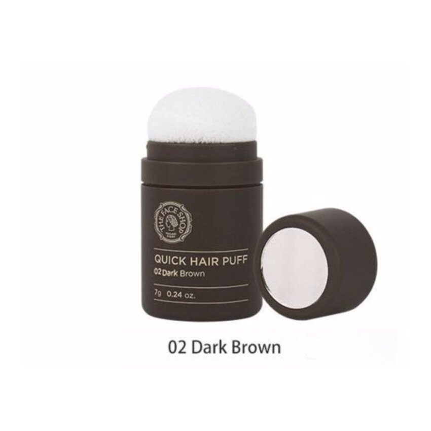The Face Shop Quick Hair Puff #2 Dark Brown ผมโทนสีน้ำตาลเข้ม (พัฟช่วยปิดผมบาง)