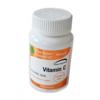 The Saint Nano Cell VitaminC USA เดอะเซนท์ นาโน เซลล์ วิตามินซี 30แคปซูล