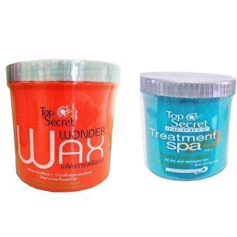 Top Secret Wonder Wax แว็กซ์ เคลือบเงาผม + Hair Treatment for Damage ครีมหมักผม บำรุง ผมเสีย 500