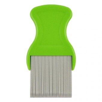 Harga Useful Anoplura Flea Comb Cootie Stainless Steel Lice Comb for Flea Combs  - intl