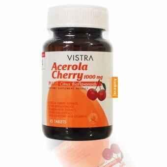 Vistra Acerola Cherry 1000 mg 45เม็ด วิสทร้า อะเซโรลาเชอร์รี่ 1000 มก.