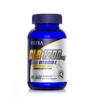 ผลิตภัณฑ์เสริมอาหาร VISTRA Sport CLA 1200 miligrams Plus Vitamin e antioxidant เพิ่มกระบวนการเผาผลาญพลังงาน 60เม็ด