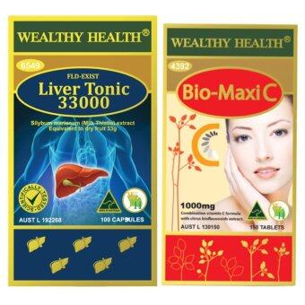 Harga Wealthy Health Bio-Maxi C 1000mg. Vitamin C + Milk Thistle LiverTonic 33000