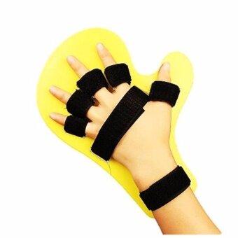 WOW ที่ดามมือและนิ้ว ใช้ได้ทั้งมือซ้ายและมือขวา ฟรีไซส์ จำนวน 1ชิ้น สำหรับผู้ป่วยอัมพฤต อัมพาต (สีเหลือง)