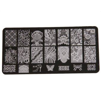 Yingwei Nail Art Templates Plates Manicure Stencil BC-09 Black
