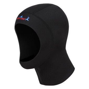 1มมหมวกดำน้ำสน็อกเกิ้ลการดำน้ำลึกดำน้ำเทียมมาลาหมวกหมวกดำน้ำ(สีดำ)-l