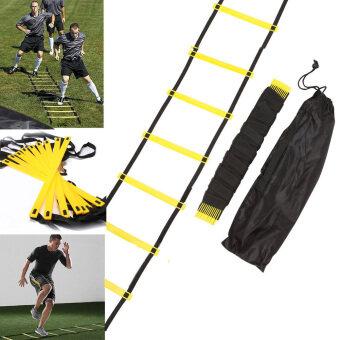 ทนทาน 10 ล้อ 15ฟุต 5แผ่นบันไดอย่างคล่องแคล่วสำหรับฝึกฟุตบอลความเร็ว