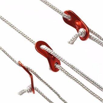 16Pcs Red Color Aluminum