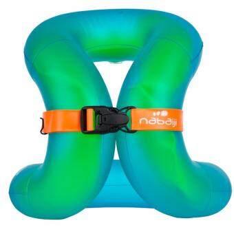 ห่วงคล้องคอเป่าลมสำหรับเด็กซึ่งมีลักษณะการใช้งานเหมือนเสื้อฝึกว่ายน้ำ(สีเขียว) 18-30 กก.