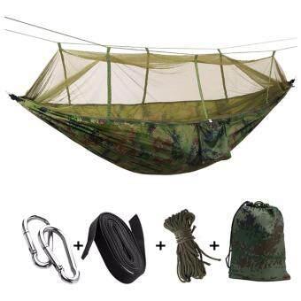 เปลสนาม เปลญวน สำหรับนอนในป่า เปลนอนผู้ใหญ่ เปลนอนมุ้ง 2 in 1 (Clamping Hammock)