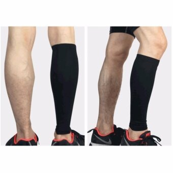 2 Pieces / lot Professional Sports Soccer shin Guard Leg Calf Running Fitness Leg Guard - intl