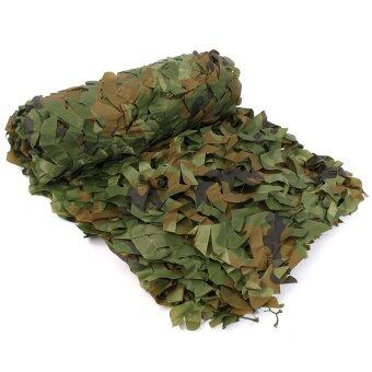 2 x 3 Woodland Leaves Military Camouflage Net Camo Netting HuntingCamping Tent - intl