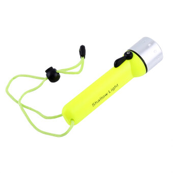 2000LM Waterproof Diving Flashlight Fluorescent Underwater TorchWith Hand Strap (Green) - intl
