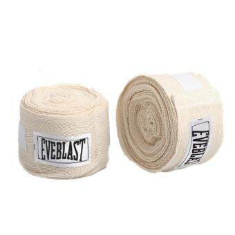2pcs/roll Cotton Bandage Sports Absorb Sweat Boxing Binding ProtectBelt Hand Wraps White - intl