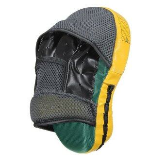 Harga 4pcs Target MMA Boxing Mitt Focus Punch Pad Training Glove KarateMuay Thai Kick New Yellow - intl