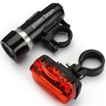 สดใสกันน้ำขนาด 5 เซ็ตจักรยานจักรยาน BikeLight led หน้าไฟหน้า และไฟ5 ชุดไฟท้าย led เซ็ตหลังตู้