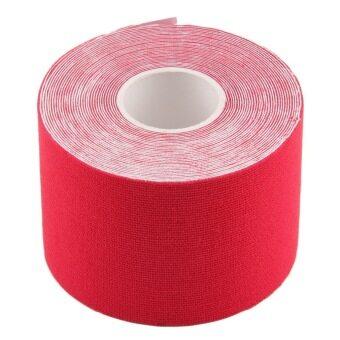 Allwin อีลาสติกเทปกีฬากายภาพบำบัดความปวดกล้ามเนื้อสีแดง