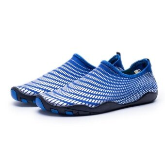 Anti skid soft fit water ski shoes diving shoes beach shoesVigorous outdoor leisure sports shoes wading quick dry shoes(Blackand Blue) - intl