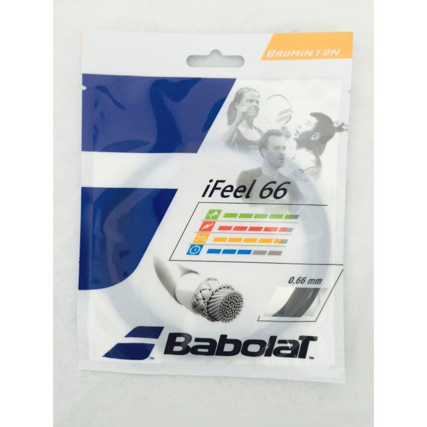 BABOLAT เอ็นแบดมินตัน IFEEL 66 10.2M (สีดำ)