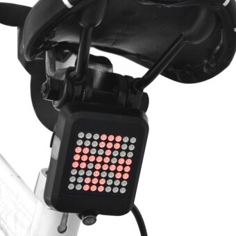 Bike Bicycle Turn Signal Light LED Rear Tail Lamp Cycling LaserLight USB - intl