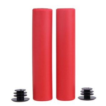 Bike Grips UltraLight Silicone Material Handlebar MTB BicycleGrip(Red) - intl