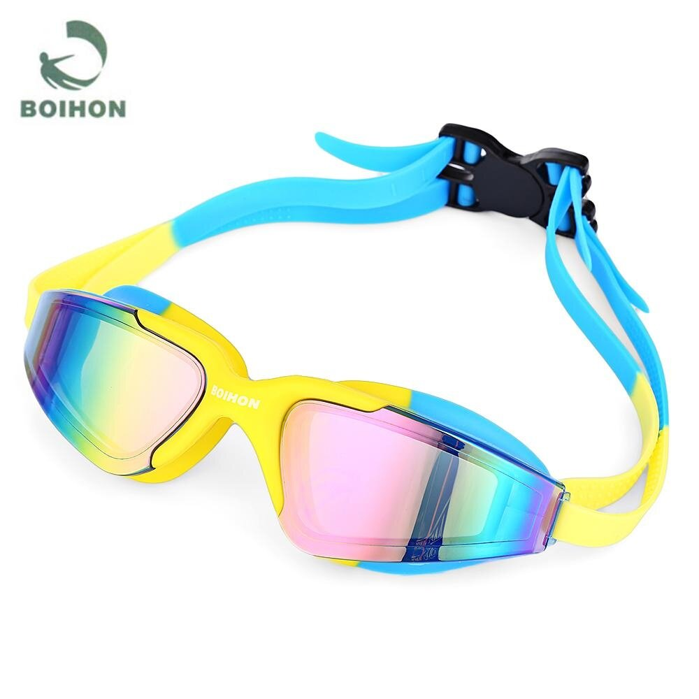 Rainbow Kacamata Renang Santai Kaca Mata Swimming Goggles Anti FogUV Protection Kacamata berenang Swimming Goggle -