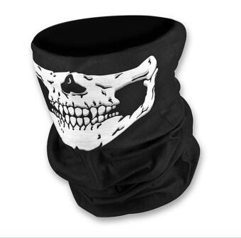 โครงกระดูกหัวกะโหลกผีสิงห์หมวกหน้ากากใบหน้า Call of Duty CODสวมหมวกเล่นกีฬาช่วยตัวเองซีเอสสีดำ