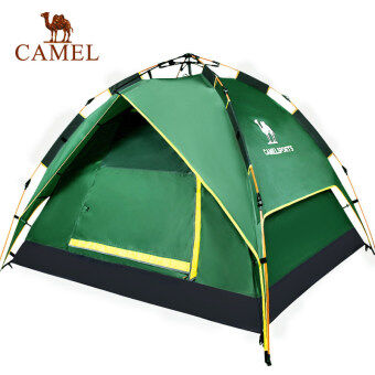 Camel Outdoor Tent Automatic Open Rainproof Camping Tents 3-4 Person(Green) - intl