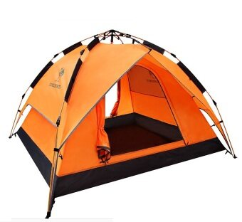 Camel Outdoor Tent Automatic Open Rainproof Camping Tents 3-4 Person(Orange) - intl