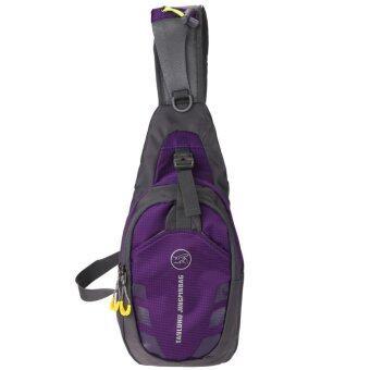 Chest Bag Outdoor Sport Travel Shoulder Sling BackpackPouch(Purple) - intl - 5
