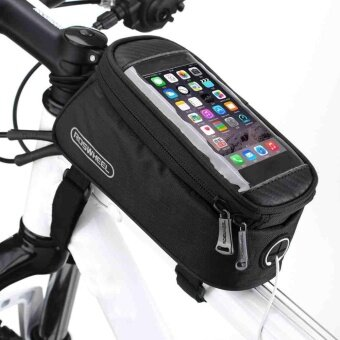 Cycling Frame Pannier Front Tube Bag For Cell Phone Bicycle Bike Touch Screen - intl