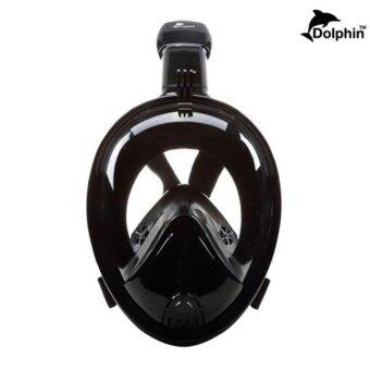 2561 หน้ากากดำน้ำแบบเต็มหน้า ไม่ต้องคาบท่อหายใจ หน้ากว้าง หน้าโค้ง หายใจสะดวก Easybreath รุ่น DP02N (ไซส์L/XL)