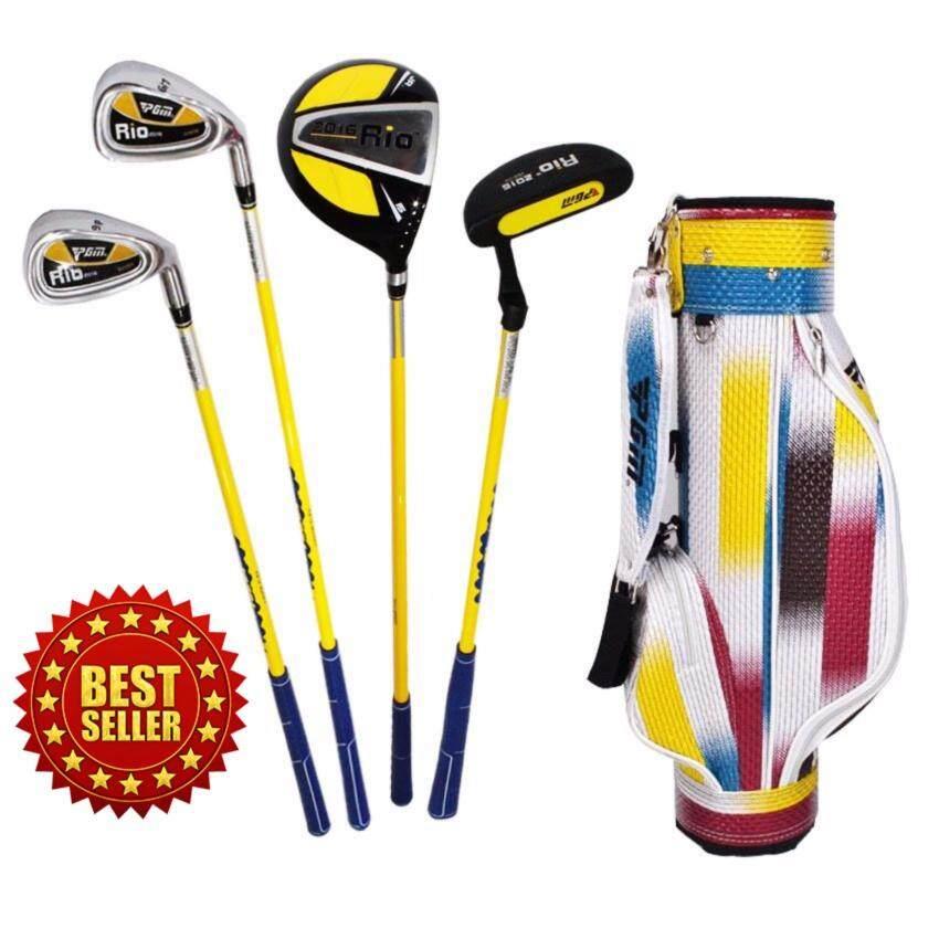 Elit ชุดไม้กอล์ฟเด็ก ผู้ชาย USA Kids Golf Set Junior boy อายุ 3-5 ขวบ ( Black /Yellow )