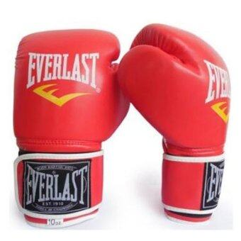 Harga EVERLAST Professional Boxing Muay Thai Training Gloves 12oz (Red) - intl