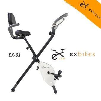 Exbikes จักรยานออกกําลังกายระบบแม่เหล็ก ( สีขาว ) เบาะนั่งนุ่มรุ่นใหม่ (image 1)