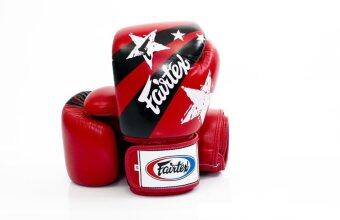 ราคา Fairtex Tight-Fit Design Gloves Nation Prints Collection - Red