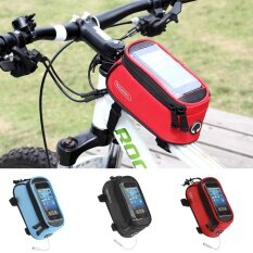 Fashion Cycling Transparent Durable Phone Bag with Good Capacity on Bike(YELLOW-L) - intl