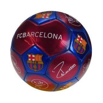 ราคา FC Barcelona ลูกฟุตบอล บาร์เซโลน่า ซิกเนเจอร์ ลายเซ็นต์นักฟุตบอล - Red/Blue