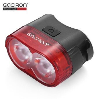 Gaciron W09 60LM USB Rechargeable Waterproof 2-LED Bike Tail LightMTB Safety Warning Smart Rear Lamp - intl