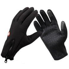 Generic BLN Skiing Gloves (touch-screen available) Snowboard Gloves Motorcycle Riding Waterproof Snow Windstopper Camping Leisure Mittens - Large (Black) (Intl)