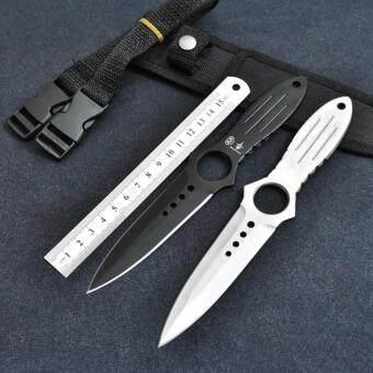ขาย Genuine Scorpion มีดพก มีดขว้าง ใบมีดคม 2 ด้าน พร้อมที่ใส่มีดและอุปกรณ์เสริม (สีดำ)