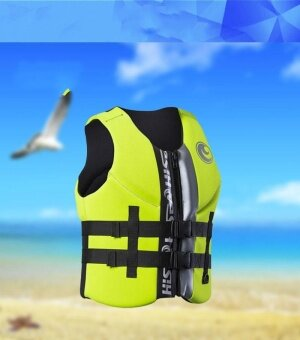 Harga Hisea Professional Neoprene Life Jacket Life Vest Fishing Life VestPFD Inflatable Life Jacket for Adults Swimwear Swimming Jackets -intl