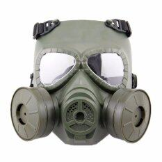 Hot CS Gas Mask with Fan for Cosplay CS Wargame Airsoft Paintball Face Protective Dummy Face Masks - intl