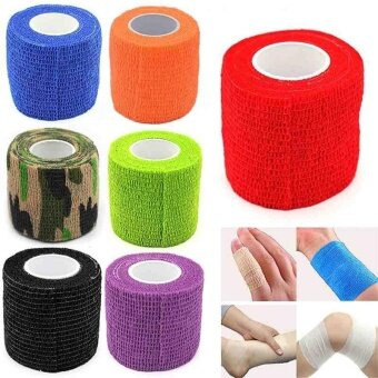 Harga Hot Medical Elastic Adhesive Non-Woven Bandage Sports KinesiologyFinger Tape - intl