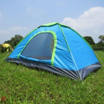 Harga Portable outdoor automatic tent 2-3 people camping tent เต็นท์นอนแค้มปิ้ง Blue