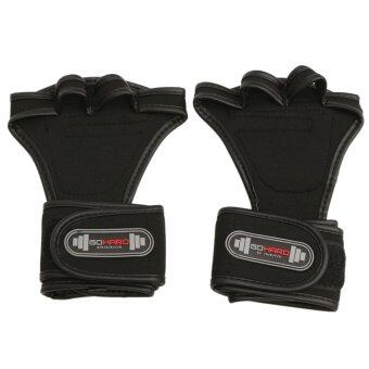 Harga GYM Weight Lifting Gloves Health Fitness Dumbbell Wrist Wrap Grip Workout Train M - Intl