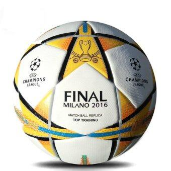 Harga Champions League Football Ball Official Size 5 Seamless PU Soccer Ball Training Competition Football Ball - Milano 2016 - intl
